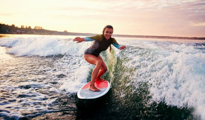 Top costume de baie intregi cu maneca lunga - Surf like a girl!