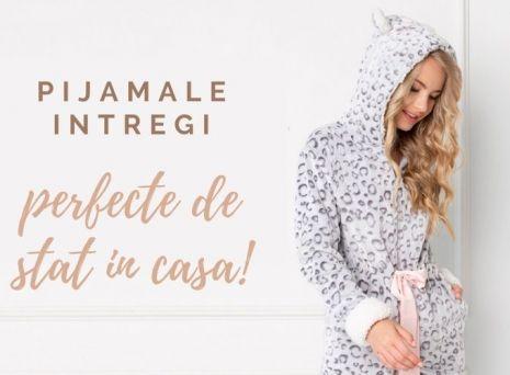 Esti friguroasa? Alege o pijama intreaga de dama ca sa iti fie cald!