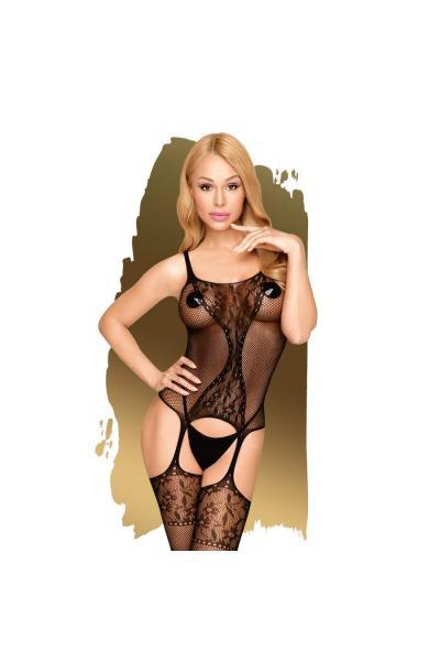 Bodystocking Miss Curvy Negru S/L