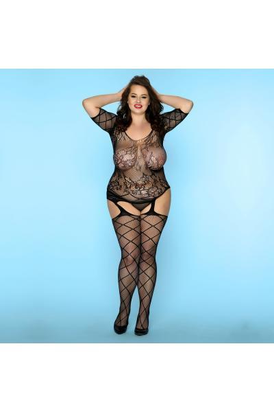 Bodystocking Sexy Curves Negru XL/XXL