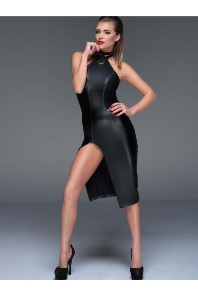 Chemise Powerwetlook pencil dress Negru