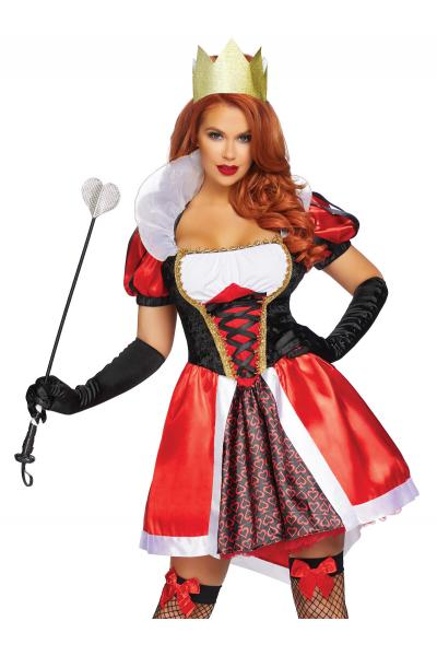 Costum 86839 Wonderland Queen Rosu