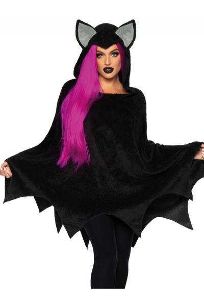 Costum Bat Poncho Negru