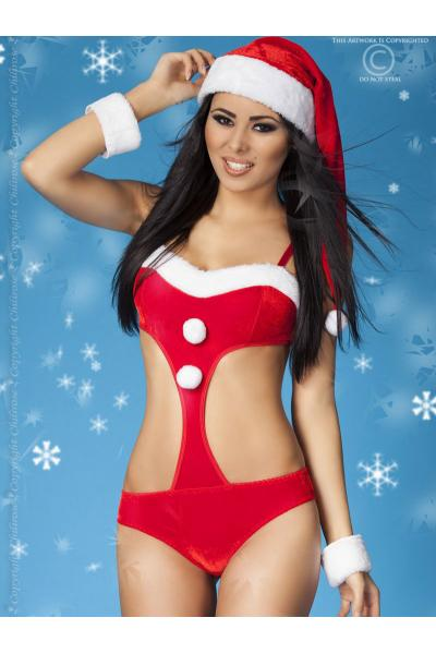 Costum Christmas body Rosu