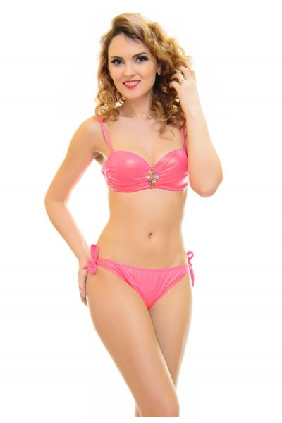 Costum De Baie Best Team Pink