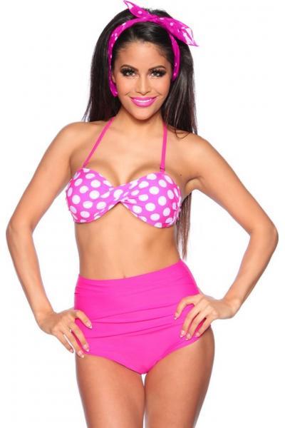 Costum de baie Vintage Bikini S roz