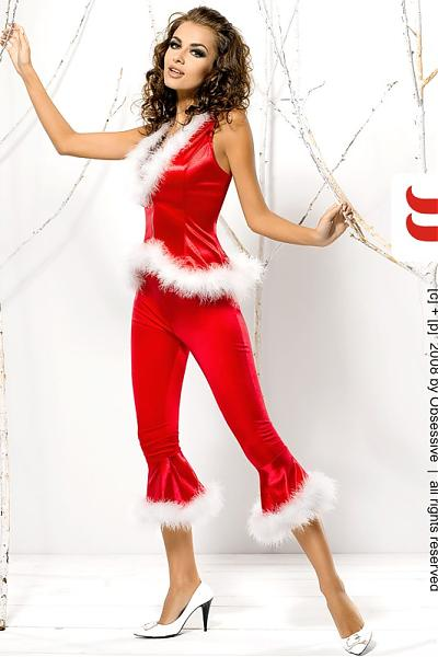 Costum de Craciunita Santa Lady pants si vest