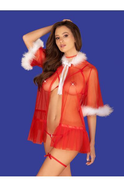 Costum Santasia Rosu