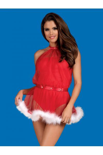 Costum Santastic Rosu