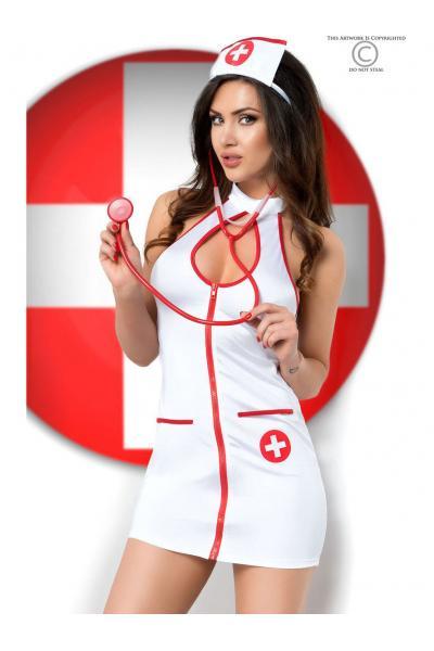 Costum Sexy Nurse Alb