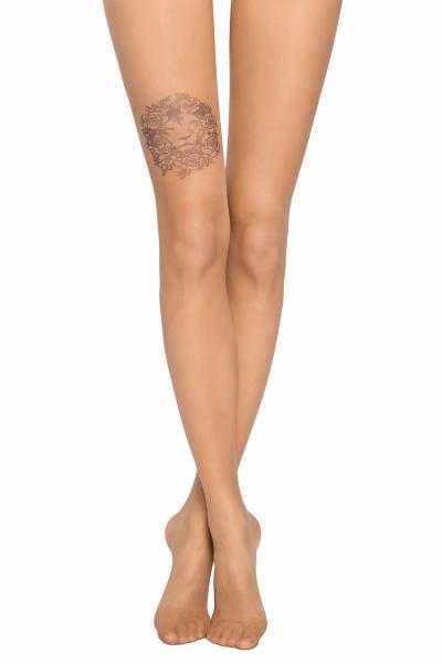 Dres dama 20 DEN I, imitatie tatuaj