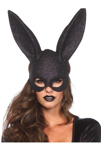 Masca 3760 Glitter masquerade rabbit mask Negru