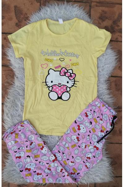 Pijama dama Bombon Hello Kitty Galben