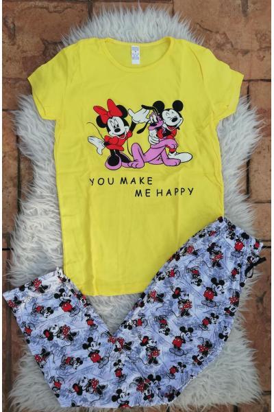 Pijama dama Friends Goofy Galben