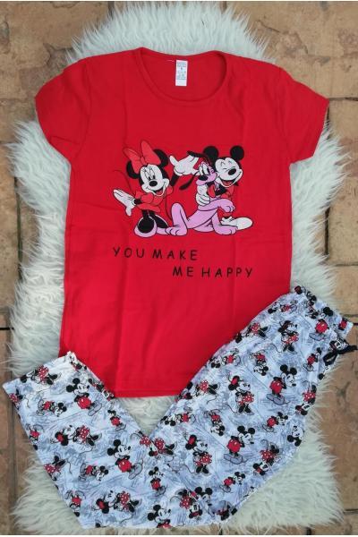 Pijama dama Friends Goofy Rosu