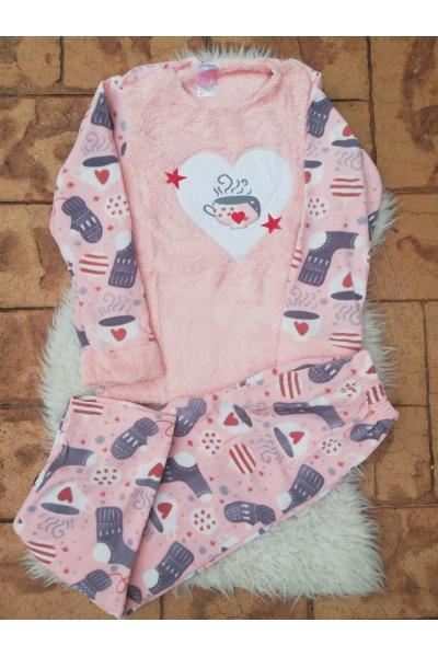 Pijama dama model Coffe Stars Roz
