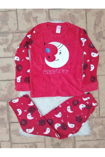 Pijama dama model Crescent Rosu