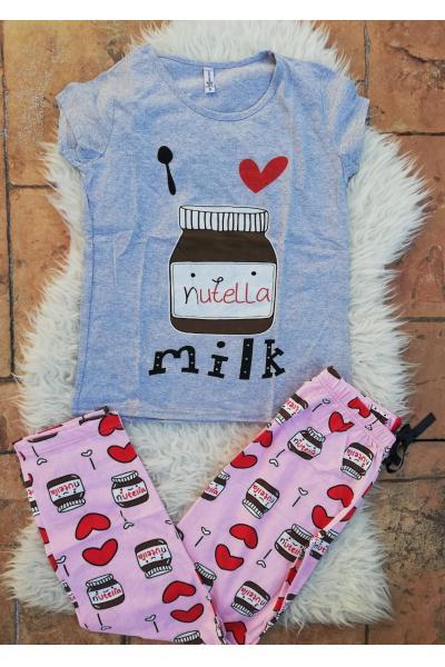 Pijama dama Nutella Gri