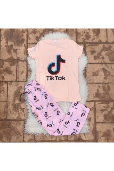 Pijama dama Tik Tok roz