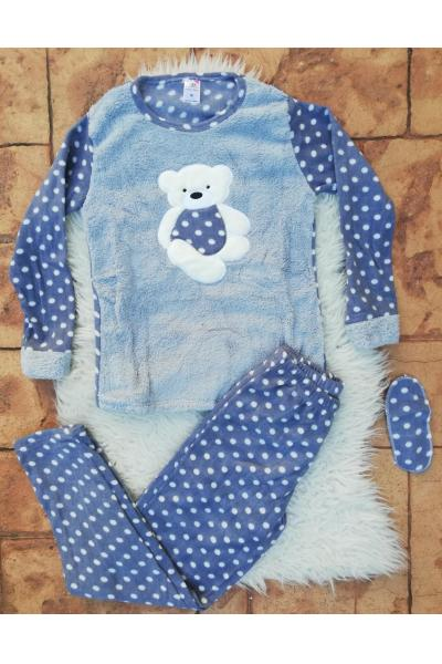 Pijama de dama model Bear Hug Bleumarin