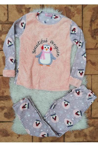 Pijama de dama model Beautiful Penguin Roz