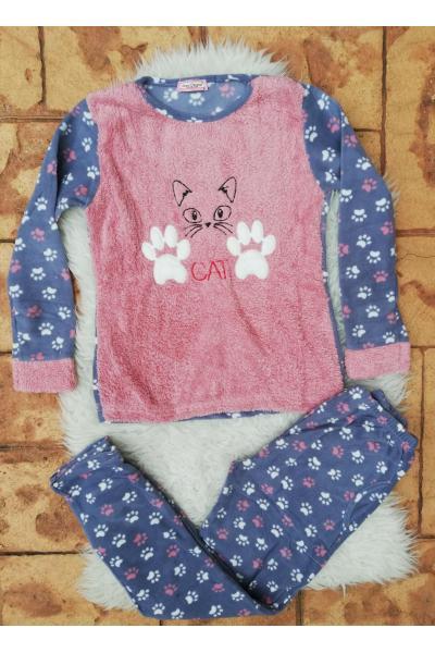 Pijama de dama model Cat Roz