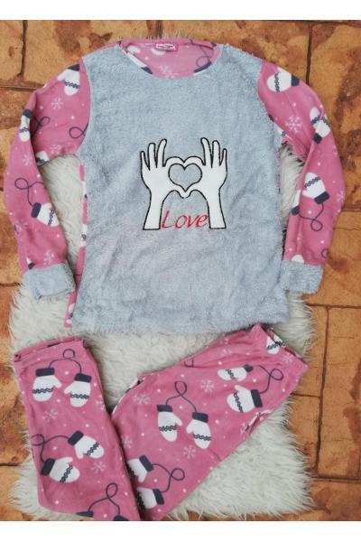 Pijama de dama model Hands Love
