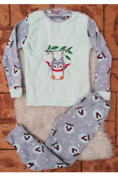Pijama de dama model Scarf Turcoaz
