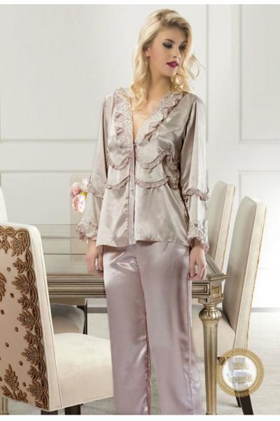 Pijama Silky Brown #7283