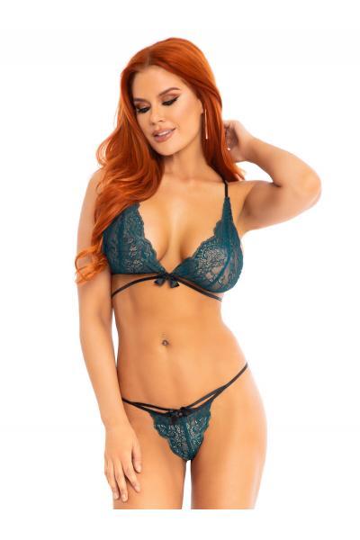 Set sexy 86115 Bralette & string panty Verde
