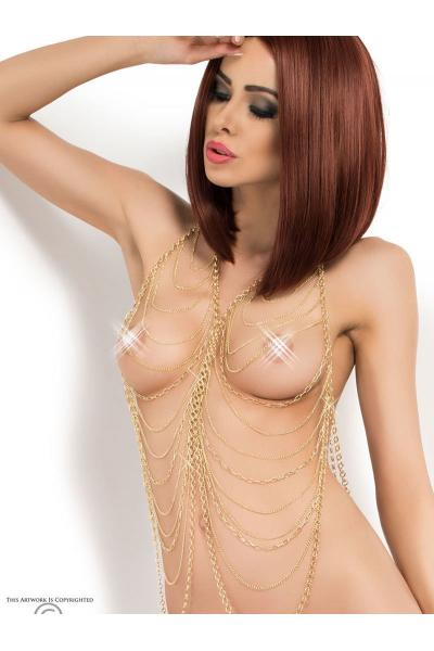 Set sexy Body Chain model 5 Auriu