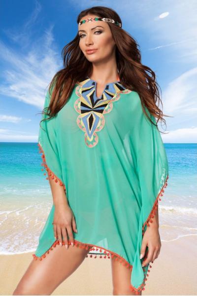 Tunica de plaja verde