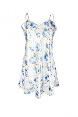 Camasa de noapte Flowers, albastru