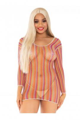 Chemise 86158 Zigzag multicolour mini dress Mov
