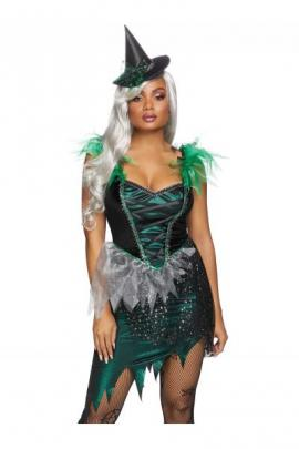 Costum 86816 Wicked Witch Verde