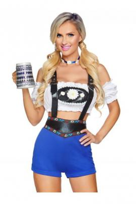 Costum 86820 Lederhosen Honey Albastru