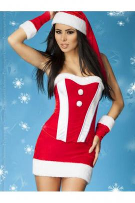 Costum Christmas set Rosu