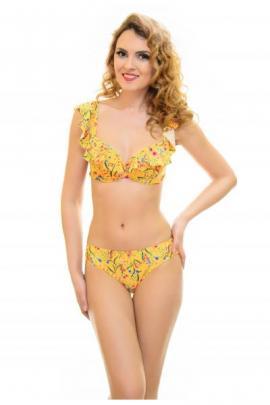 Costum De Baie Flower Yellow