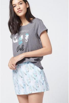 Etam - Pantaloni scurti de pijama Mint
