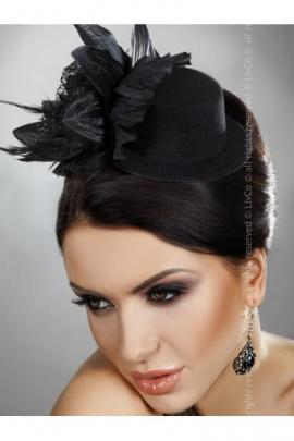 Palarie Mini Top Hat Model 22 Negru