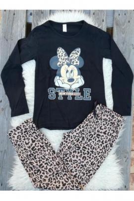 Pijama cu maneca lunga Style Minnie negru