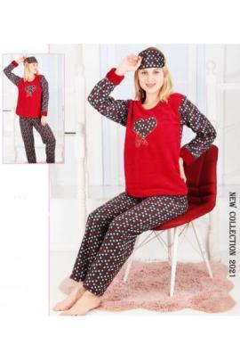Pijama dama cocolino Love You