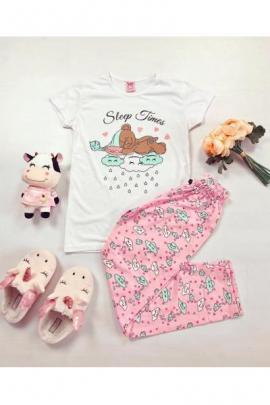 https://www.just4girls.ro/pijama-dama-ieftina-bumbac-cu-pantaloni-lungi-roz-si-tricou-alb-cu-imprimeu-ursulet-sleep-time-98216.html