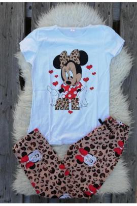 Pijama dama In Love Minnie Alb