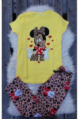 Pijama dama In Love Minnie Galben