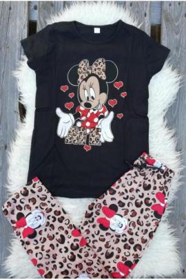 Pijama dama In Love Minnie Negru