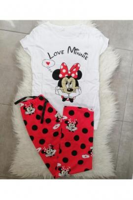 Pijama dama Love Minnie alb