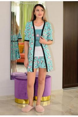 Pijama Lovely Owl Mint