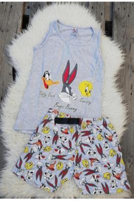Pijama scurta Tweety gri