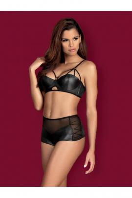 Set sexy Leatheria 2-pcs Negru